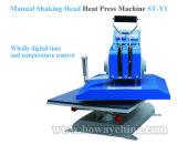 StY1手動動揺のヘッド端末のデジタル平面Tシャツの熱い熱のTansferの出版物プリンター