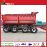 2 eixos de transporte de algodão nas quatro rodas do reboque agrícola