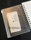 Dekking van het Notitieboekje van pvc de Plastic (yj-F011)