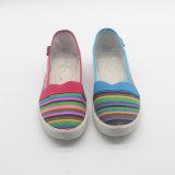 1人のドルの熱い販売の女性のPVC注入の余暇のズック靴