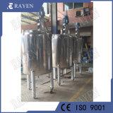 Acero inoxidable sanitario la agitación de refrigeración industrial de depósito de reacciones químicas.