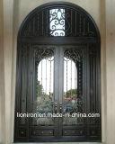 頑丈なヒンジが付いている造られた外部の鋼鉄エントリ倍の鉄のドア