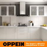 Unità modulari all'ingrosso di legno della cucina della lacca a forma di L moderna (Op16-L02)