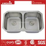 34-3/4X acier inoxydable de 21 pouces sous le bassin de cuisine de cuvette de double de support