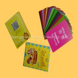 Personalizar cartões educacionais plásticos dos cartões de jogo das crianças