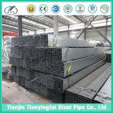 China fábrica de tubos de acero cuadrado hueco del tubo de sección rectangular de ms