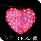 Mariage Heart-Shaped lumière LED 3D pour l'extérieur Decaration