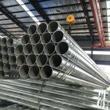 Материал Q195 Q215 Q235 с цинковым покрытием строительных материалов оцинкованный круглый стальной трубопровод