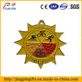 Médaille faite sur commande en métal de forme de flocon de neige