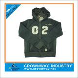 Промелькните-вверх свитер Hoody кардигана с изготовленный на заказ печатание экрана