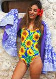 2017 de Afgedrukte Dames Swimwear Uit één stuk van dames Bloem