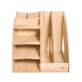 2 estante de madera del fichero del escritorio de las columnas DIY