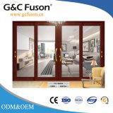 Aluminium-Außenaluminiumchinesische Wohnschiebetüren