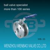 1PC Válvula de bola con brida Tipo Wafer PN16