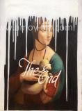 Wiedergabe der Leonardo- Da Vincidame mit einem Ermine-handgemachten Ölgemälde