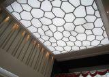 Membrana de superficie plana LED artesanía excelente techo blando de fibra de vidrio ignífugo