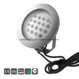 316ss 54watt IP68 LED 수중 수영풀 샘 빛