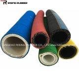 Manguito de aire colorido flexible del manguito de aire del aire de la trenza de la materia textil del manguito de goma del agua
