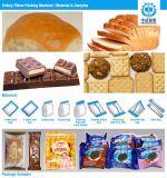 Máquina horizontal de la almohadilla para el pan, torta, galleta que empaqueta, fábrica del Ce