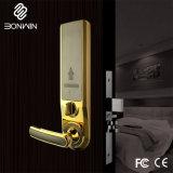 Ouro brilhante eletrônico digital da fechadura da porta corrediça para Hotel