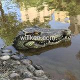 Плавающий режим воды вспенивания скульптура крокодил скульптуры для продажи