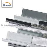 Foshan rechnete Dekoration-dunkelgraue Aluminiummischungs-Küche-Mosaik-Glas-Fliesen ab