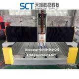単一スピンドル石CNCのルーターか1つのヘッド3D CNCのルーター