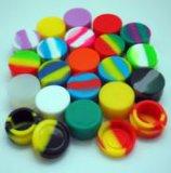 China Fábrica Cores Rasta 5ml jarro de armazenamento de silicone como acessórios para fumadores