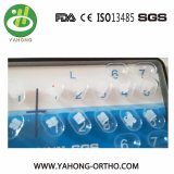 La vendita calda Roth dentale 022 aggancia la parentesi di ceramica ortodontica 345