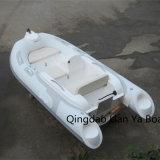 Mini canot gonflable de bateau de côte de coque de fibre de verre de bateaux de Liya 11FT