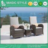 藤は空気の椅子の庭の枝編み細工品を編むクッションの枝編み細工品が付いている椅子を緩める椅子の屋外の藤の空気のソファーのテラスのソファーセットを緩める
