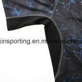 스포츠 착용을%s 남자의 Camo Lycra Rashguards t-셔츠