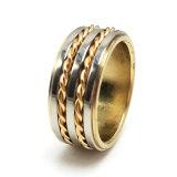 De Gouden Ring van het Huwelijk van de Manier van de Juwelen van het Roestvrij staal van de mens