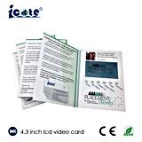 Folleto video para el asunto/la invitación promocional del regalo/hacer publicidad con la pantalla de 4.3 pulgadas