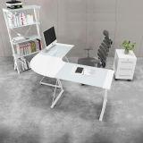 Домашний стеклянный угловойой стол компьютера в l форме