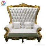 Роскошный Королевский высокие Gold старинной свадьбы королевы Sexy диван