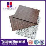 Panneau composé en aluminium de texture en bois avec l'épaisseur de panneau de 3mm 4mm