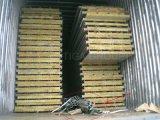 Цветастая Corrugated панель сандвича шерстей утеса для стены