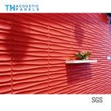 Painel de parede da fibra de poliéster 3D/placa acústicos decorativos interiores do teto