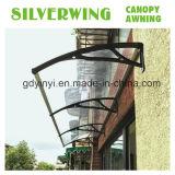 2017 Hot DIY Wing toldo cobertizo de la puerta de láminas de policarbonato (800*1000).