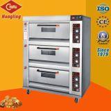Horno de gas comercial de la cocción de pan de la línea de producción (Real Fábrica).