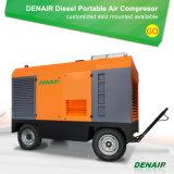 compressor de ar Diesel móvel móvel de Cummins Engine da roda 440V para o mineral