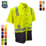 Ripstop de manga larga y duradera protección Upf viento camisa de trabajo