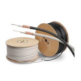 Alta tensión de 75 ohmios RG11 Cable Coaxial con cobre o conductor CCS