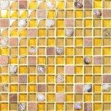 [كرستل غلسّ] مزيج خزفيّة فسيفساء بحر قشرة قذيفة تصميم [بروون] لون