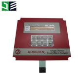 Interruptor de membrana do animal de estimação com adesivo de 3m para o painel de controle industrial