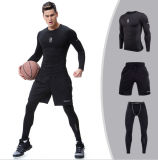Wholesale Fitness Jackets Tights Three-Pieces Sublimated Men Tracksuit Sportswear