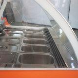 中国の製造者の高性能のバレルのイタリアのアイスクリームのショーケース