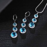 卸し売り方法真鍮の宝石類カラー宝石用原石のイヤリングのネックレスの一定の宝石類