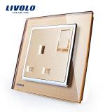 Socket certificado Ce caliente Vl-W2z1UK1-11/12/13 de la cuadrilla 13A de Reino Unido 1 de la venta de Livolo